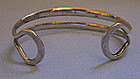 Sterling Silver Hammered Bracelet, c. 1970