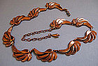 Renoir Copper Scroll Necklace, c. 1960
