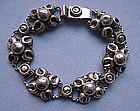 Mexican Sterling Link Bracelet, c. 1960