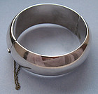Mexican Sterling Hinged Bangle, c. 1960
