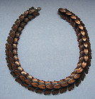 Rebajes Copper Leaf Necklace, c. 1955