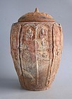 Large Chinese Song / Yuan Dynasty Painted Buddhist Jar