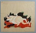 Japanese Tosa Erotic Painting. 17/18th. c. Edo Period