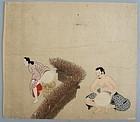 Japanese Tosa Erotic Painting 17/18th. c. Edo Period