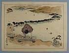 Japanese Woodblock Print by Nakazawa Hiromitsu. Taisho