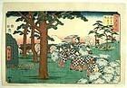 Japanese Woodblock Landscape Print Hiroshige 1853 Edo