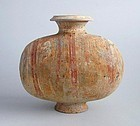 Chinese Han Dynasty Painted Pottery Cocoon Jar