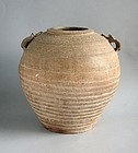 Large Chinese Western Han Dynasty Glazed Stoneware Jar