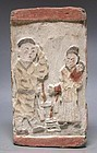 Chinese Jin Dynasty Filial Piety Pottery Tile - Guo Ju