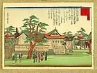 Japanese Woodblock Scenic Osaka Print by Sadanobu 1869/70