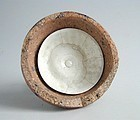 Chinese Northern Song Dynasty Qingbai Porcelain Dish in Kiln Saggar