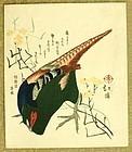 Japanese Woodblock Surimono Print by Hokkei. 1890s. Meiji Period