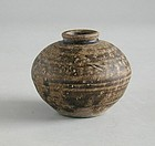 South-East Asian 13th Century Glazed Stoneware Jar (Khmer / Thai)
