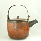Japanese Lacquered Wood Choshi Sake Kettle Meiji Period
