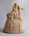 Rare Chinese Eastern Han Dynasty Pottery Money Tree Base