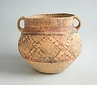 Large Chinese Neolithic Machang Phase Painted Pottery Jar