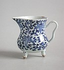 Chinese Qing Dynasty Blue & White Porcelain Jug