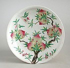 Large Chinese 19th Century Enamelled Dish with Yongzheng Mark