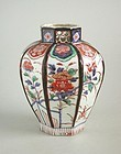 Large Japanese 17th Century Imari Octagonal Porcelain Jar