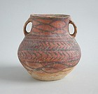 Chinese Neolithic Painted Pottery Jar - Machang (c. 2300 - 2000 BC)