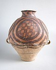 Fine LARGE Chinese Neolithic Painted Pottery Jar - Machang