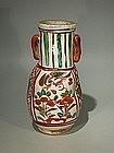 Japanese Kyo-yaki Porcelain Vase Attrib. Okuda Eisen