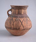 Rare Chinese Neolithic Painted Pottery Jar - Machang