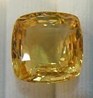 Beautiful Unheated Yellow-Orange Sapphire 10.97ct GIA