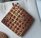 Gorgeous Burma Ruby 18k Gold Pendant