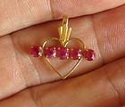 Exquisite Unheated Burma Ruby Gold Pendant
