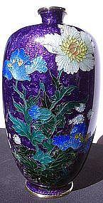 Japanese Cloisonne Vase, Signed