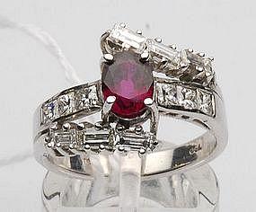 18K Ruby/Diamond Ring