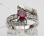 18K Ruby/Diamond Ring