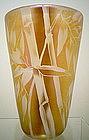 Correia Studio Gold Etched Bamboo Vase