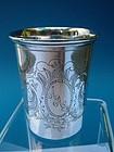 Swedish silver beaker, Stockholm, 1878