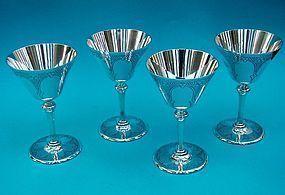 Tiffany sterling martini glasses model number 20037C