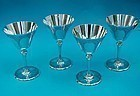 Tiffany sterling martini glasses model number 20037C