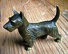bronze of a Scottie dog