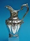 coin silver water pitcher, fire fighting interest