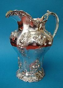 Fine and heavy Gorham water pitcher model 7577