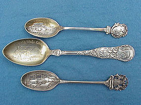 Gorham cast Detroit souvenir spoon