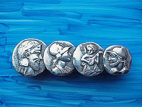 Frank Whiting four MEDALLION bar pin