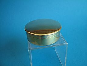 a French silver gilt dresser jar, .950 standard,