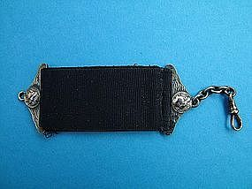 Shiebler ETRUSCAN watch fob with gold medallions