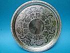 coin silver salver, Welles & Gelston, Boston circa 1820