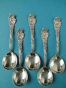 four Gorham VERSAILLES gumbo soup spoons