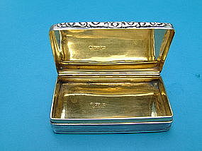 William IV snuff box, maker Edward Smith, Birmingham
