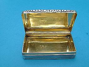 William IV snuff box, maker Edward Smith, Birmingham