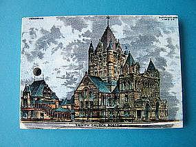 Wedgwood polychrome calendar tile, Trinity Church,