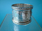 "Wood & Hughes coin silver napkin ring, ""Clemence"""